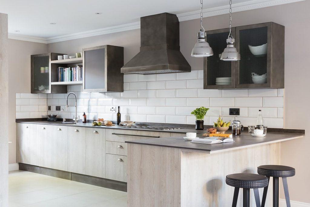 Blackboard Wooden kitchen in Highgate